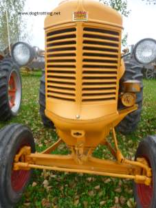 close up of antique tractor