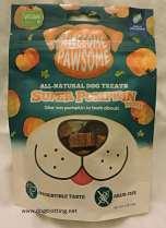 bag of awesome pawsome super pumpkin dog treats