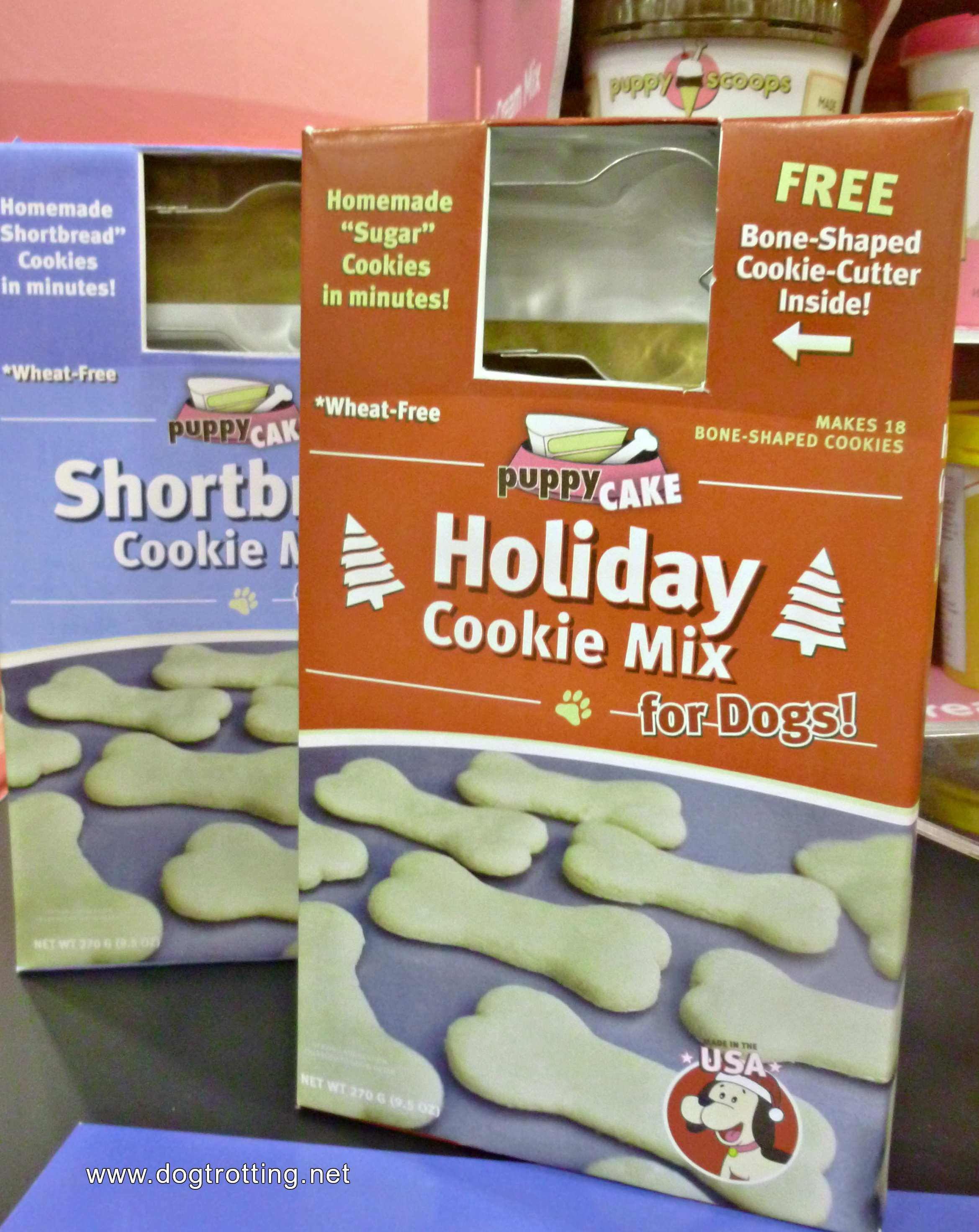 image of puppy cake holiday cookie mix for dogs