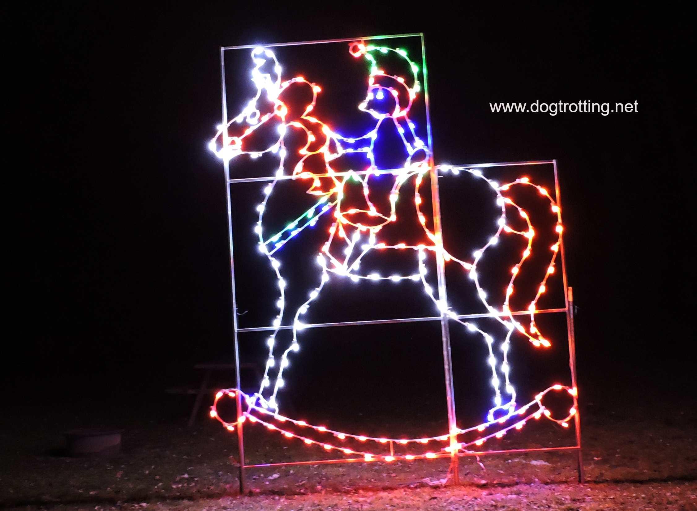 Christmas light show in Kitchener, Ontario