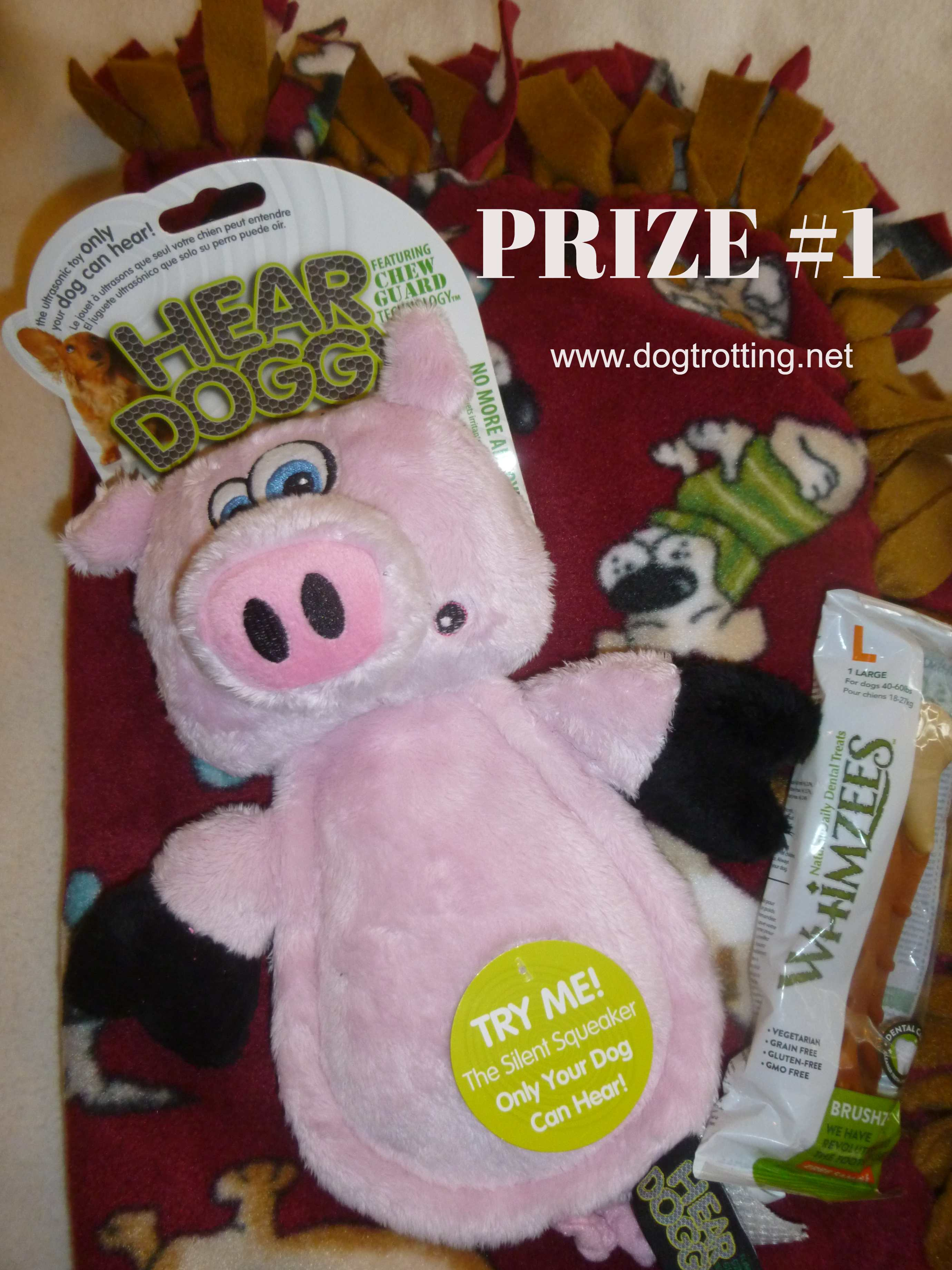 pig Hear Doggy dog toy