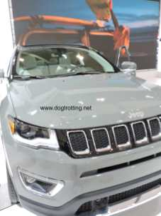 gray jeep car at auto show