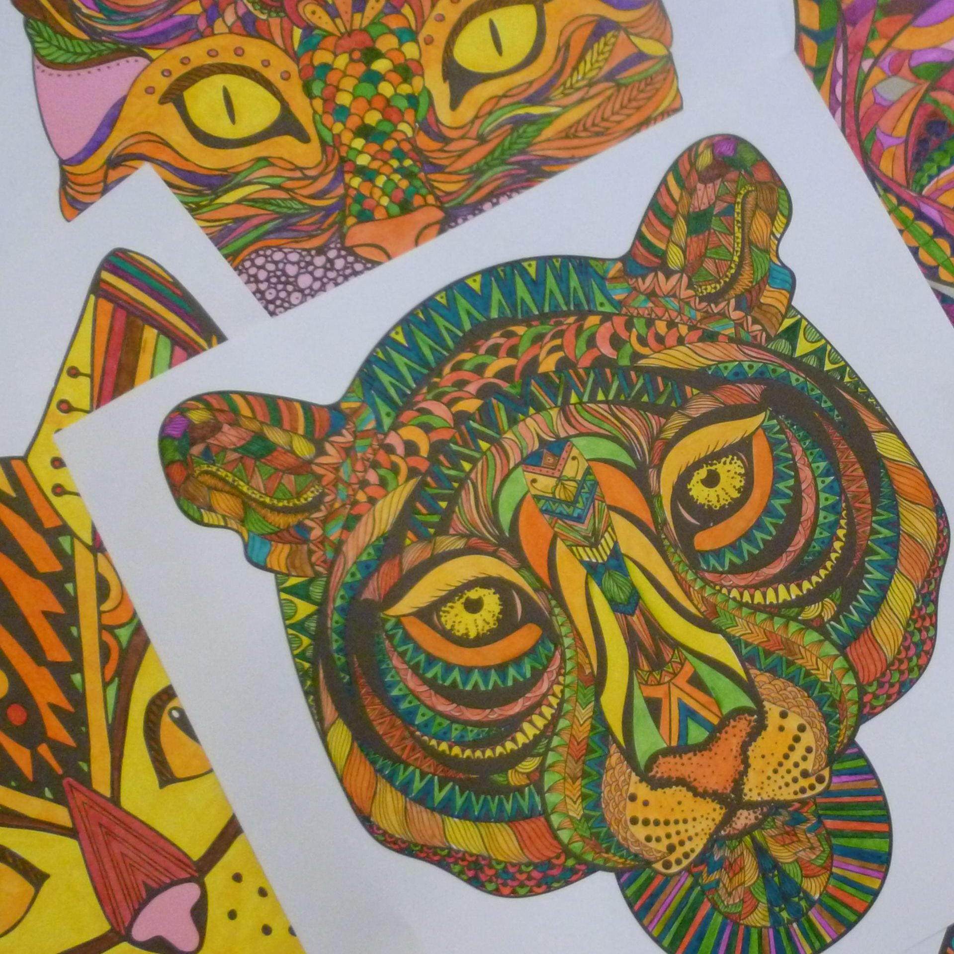 pages from colouring book