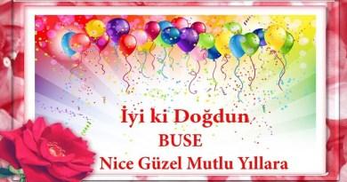 iyiki doğdun buse videolu doğum günü mesajı