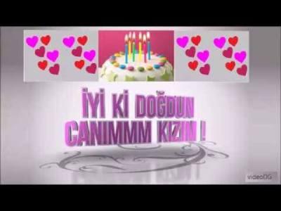 anneden kızına doğum günü mesajı