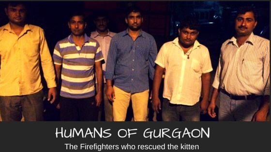 humans of Gurgaon - firefighters save kitten