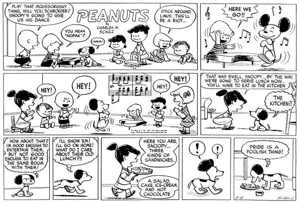 Peanuts Pride is a foolish thing