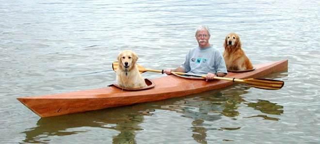 custom kayak dogs