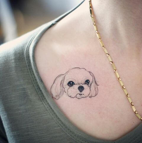 dog cute tattoo
