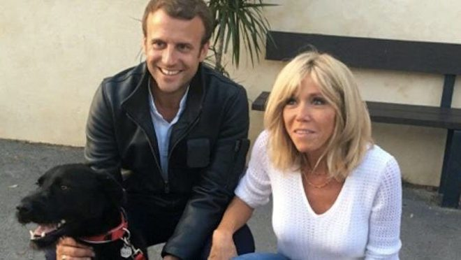 French president adopts rescue dog