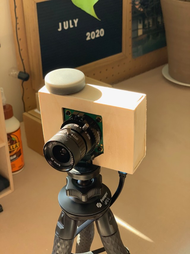 View of camera from the front