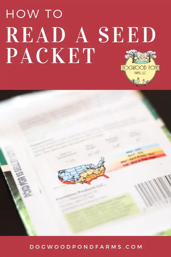 Learn how to read a seed packet.