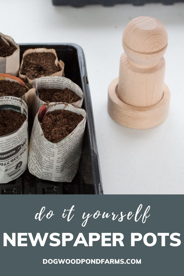 make your own cheap seed starting pots