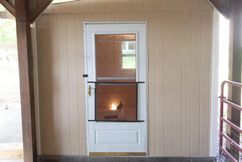 Take a look inside the new chick brooder house