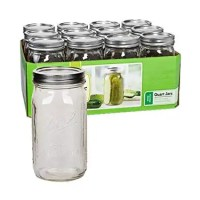 Amazon.com: Ball Wide Mouth Quart (32 oz) Jars with Lids and Bands, Set of 12: Kitchen & Dining