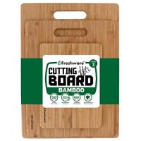 Amazon.com: Freshware Bamboo Cutting Board - Wood Chopping Boards for Food Prep, Meat, Vegetables, Fruits, Crackers & Cheese, Set of 3: Kitchen & Dining
