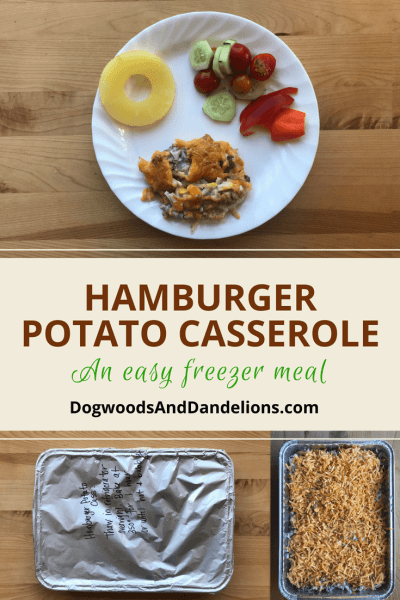 hamburger potato casserole   freezer meal   one dish dinner   one pot wonder