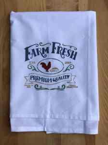 Farm Fresh Stenciled Flour Sack Towel