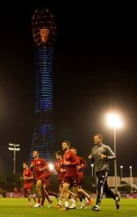 FC Bayern training at Aspire