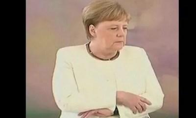 Angela Merkel, Victime ,nouvelle Fois , Crise De Tremblements,vidéo