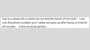 Online Live Chat and Customer Experience Example