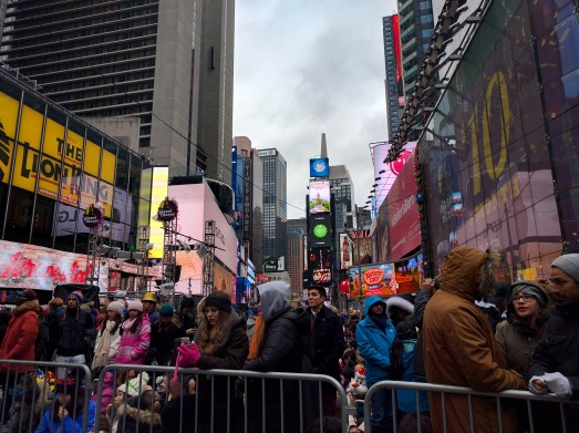 The mass of people at Time Square for New Years at noon