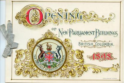 Invitation to opening of BC Parliament Buildings