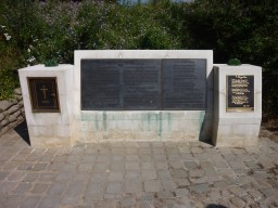 """The memorial to Lt-Col. John McCrae at Essex Farm Cemetery near Ypres. It is believed McCrae composed his famous poem """"In Flanders Fields"""" while working in the medical bunkers nearby."""