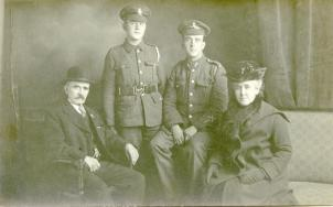 Brothers in arms: a Private in the Bedfordshires and a Corporal in the Royal Dublin Fusiliers (1st Battalion I believe)
