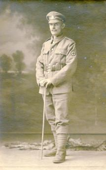 A soldier from the Royal Army Medical Corps