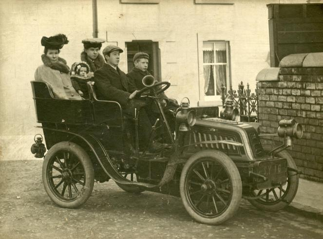 This is a 1906 Clemont Talbot Car (Ed. notice the early licence plate)