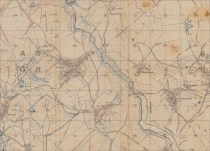 Trench map showing Joncourt and Ramicourt