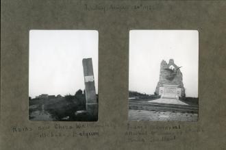 Ruins near Zillebeke and Memorial near Bailleul