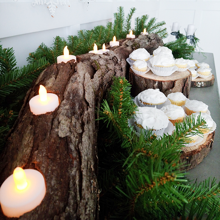 Natural Log Tealight Candle Holder