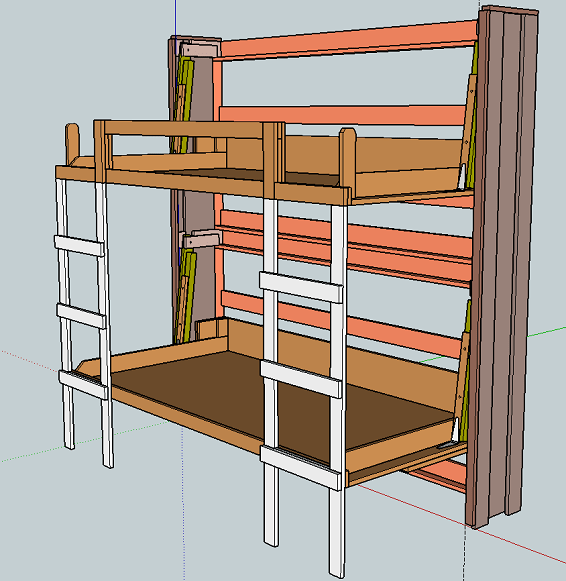 How To Build Murphy Bunk Bed Diy Plans Woodworking
