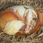 25 Fantastic DIY Painted Rocks Animals Horse for Summer Ideas (9)