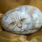 50 Best DIY Painted Rocks Animals Cats for Summer Ideas (22)