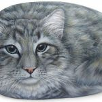 50 Best DIY Painted Rocks Animals Cats for Summer Ideas (43)