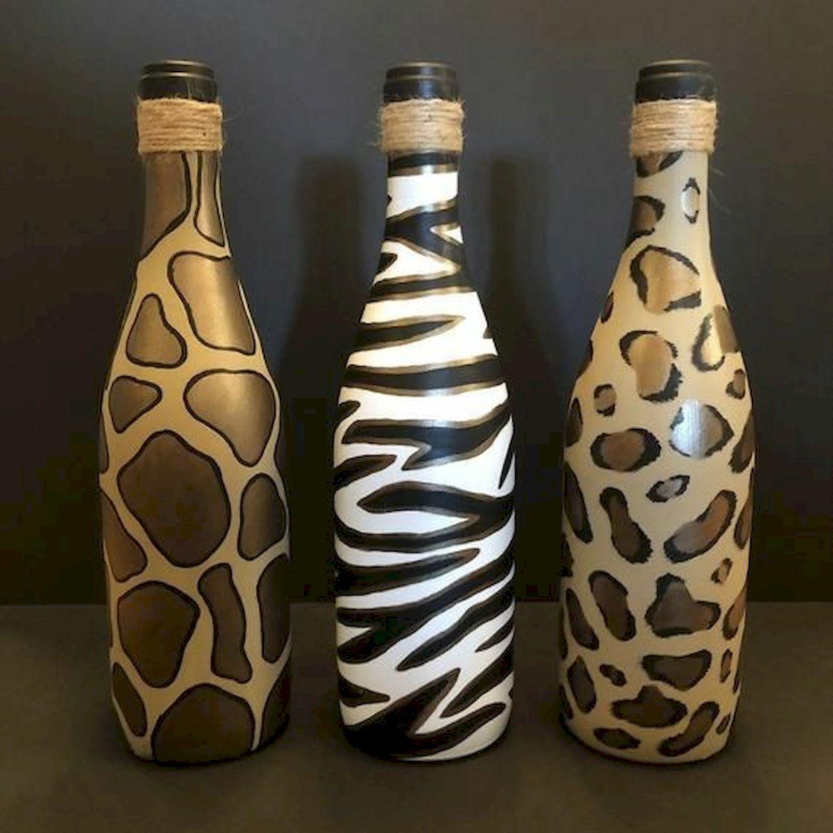 76 Best DIY Wine Bottle Craft Ideas (28)