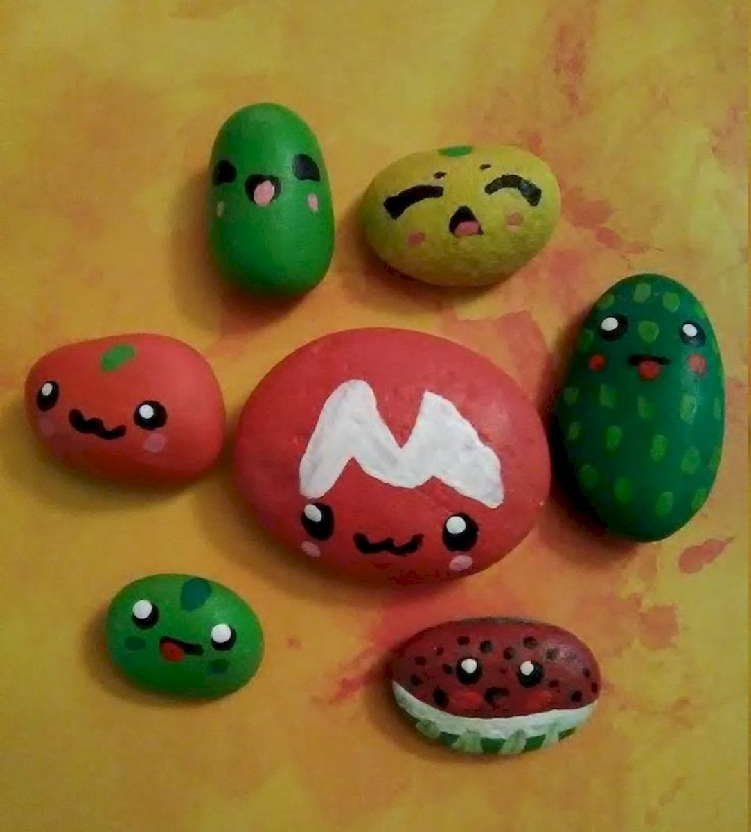 40 Awesome DIY Painted Rocks Fruits Ideas (39)