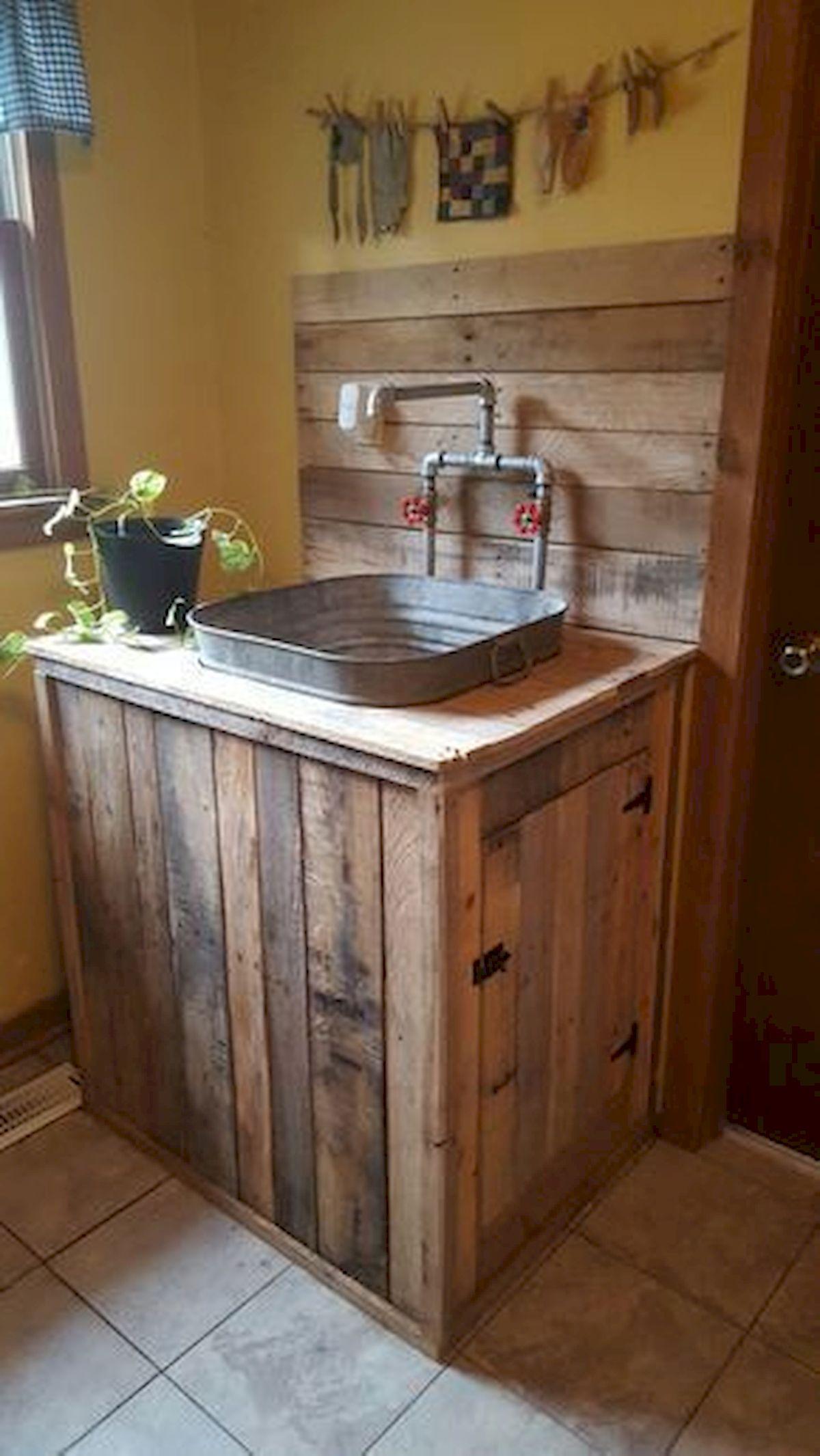 50 Amazing DIY Pallet Kitchen Cabinets Design Ideas (3)