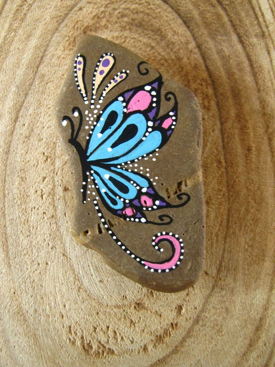 55 Cute DIY Painted Rocks Animals Butterfly Ideas (4)