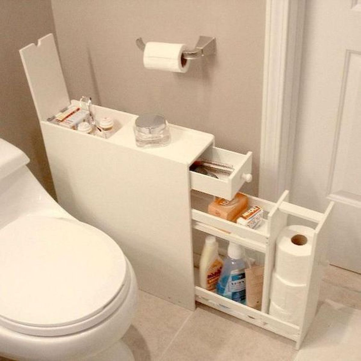 50 Best DIY Storage Design Ideas to Maximize Your Small Bathroom Space (10)
