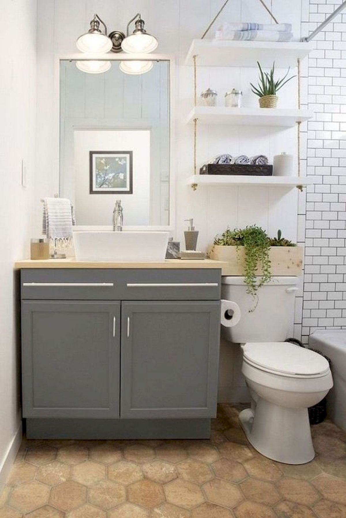 50 Best DIY Storage Design Ideas To Maximize Your Small Bathroom Space (34)