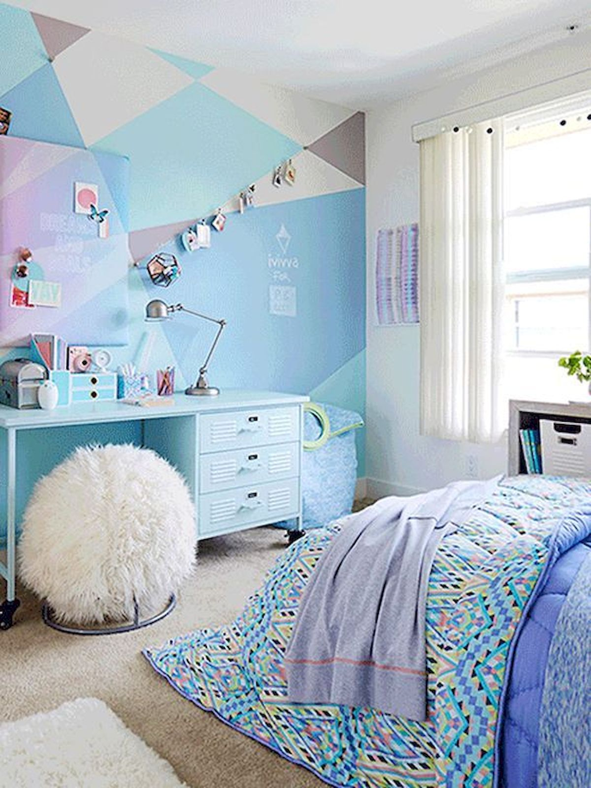 60 Cute DIY Bedroom Design And Decor Ideas For Kids (54)