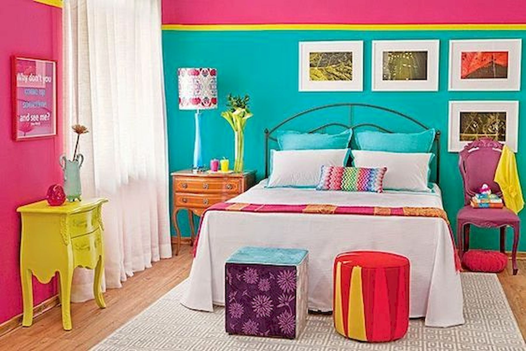 70 Beautiful DIY Colorful Bedroom Design Ideas And Remodel (16)