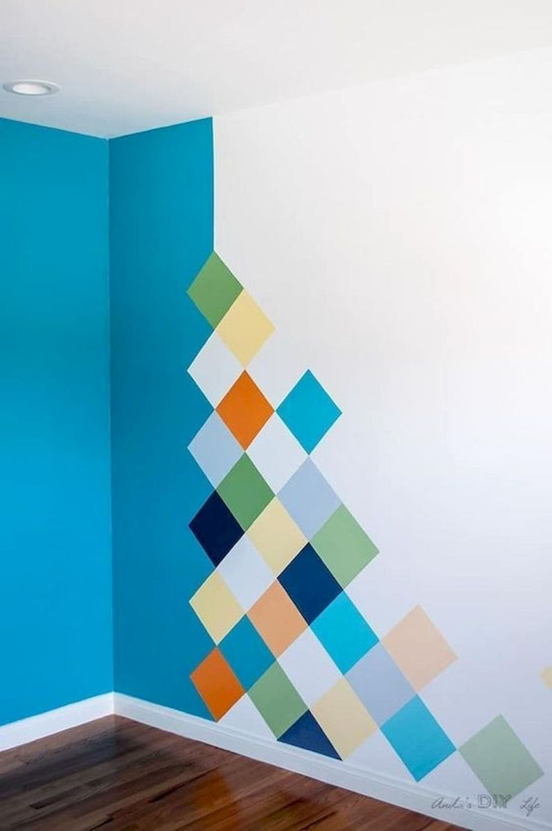 44 Easy but Awesome DIY Wall Painting Ideas to Decorate Your Home (3)