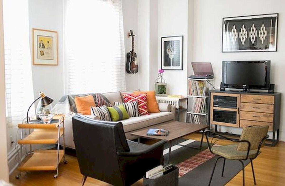 45 Brilliant DIY Living Room Design and Decor Ideas for Small Apartment (14)