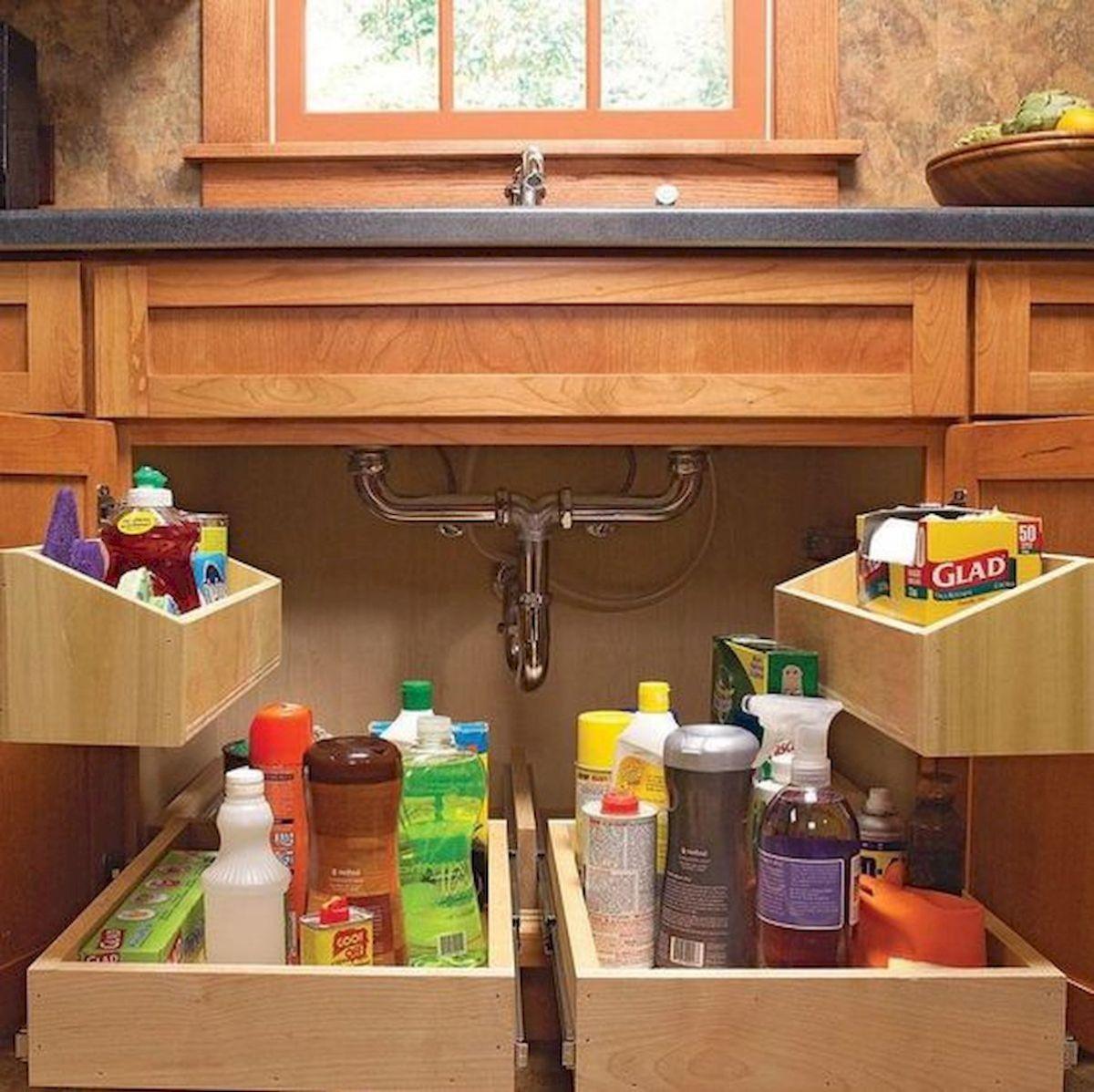 46 Creative DIY Small Kitchen Storage Ideas (23)