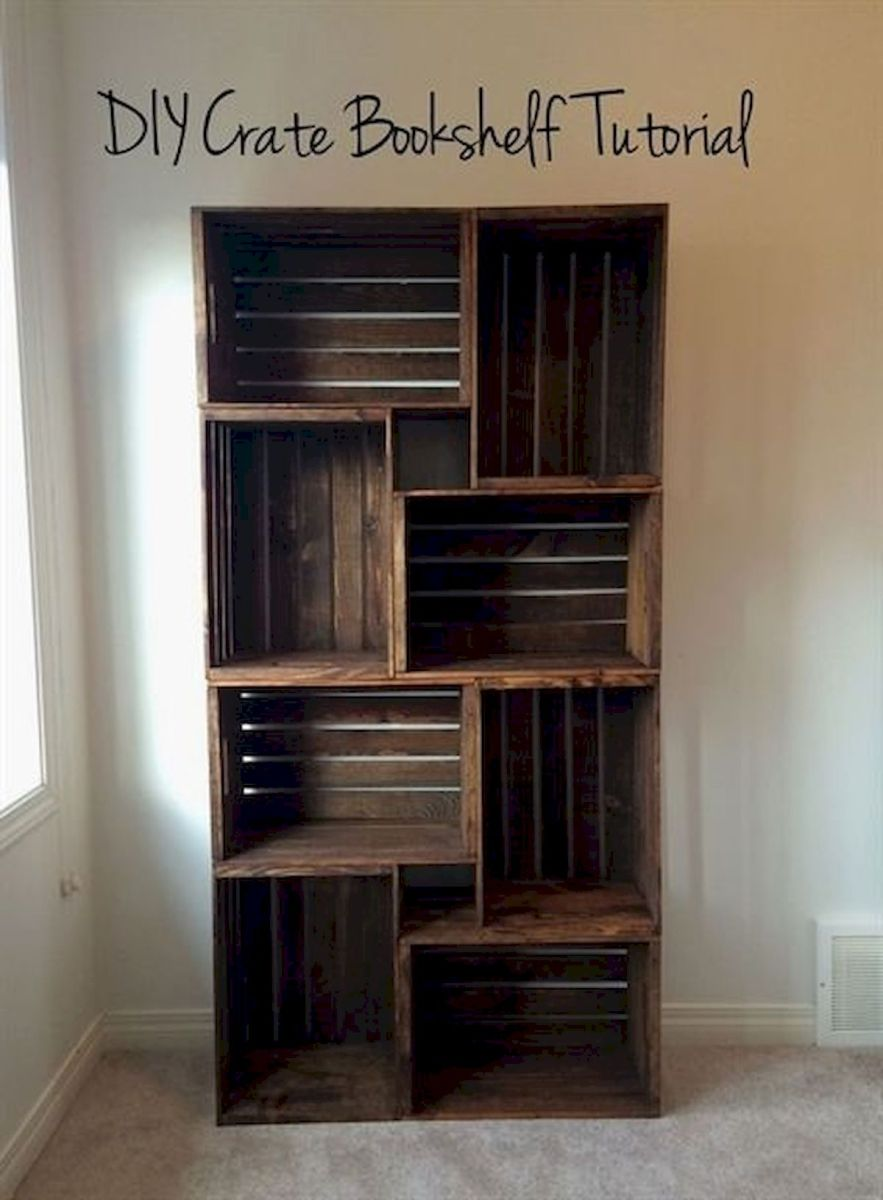 50 Easy DIY Bookshelf Design Ideas (3)